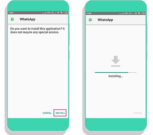 mi-whatsapp install on android