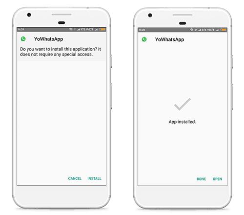 wa aero install on android device
