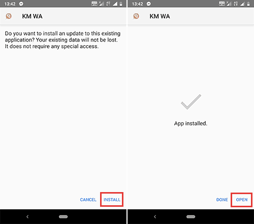install wamods apk on android
